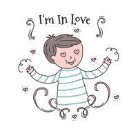 Boy In Love Vector