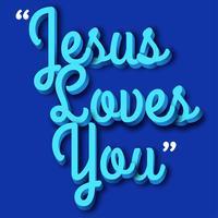 projeto de vetor de letras de jesus 3d