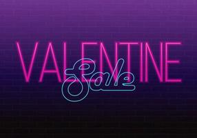 Fröhlichen Valentinstag. Valentine; s Day Sale Veranstaltung. 3d neonzeichen. Realistische Leuchtreklame Liebe Zeichen. Liebe Neonzeichen.