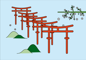 Vecteur Fuji Inari gratuit