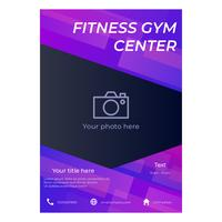 fitness gym folder sjabloon