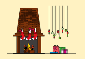 Free Fireplace Vector