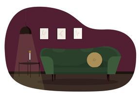 Vektor vardagsrums illustration
