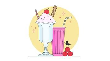 Cherry Sundae Vector