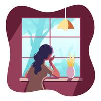 Cozy Setting Vector