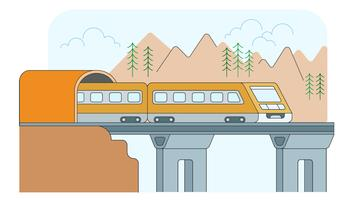 Electric Train Vector