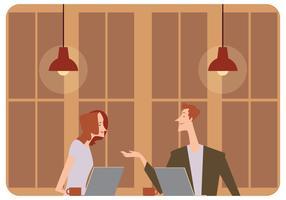 Reunión en la cafetería Vector