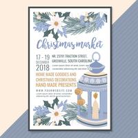 Vector Christmas Market Poster