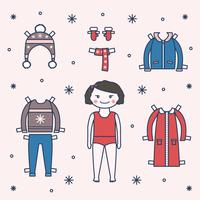 Paper Doll Set Vector