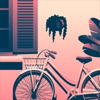 Bicicleta abaixo da janela