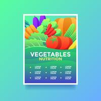 Vegetables Nutrition Health Lifestyle Flyer Vector