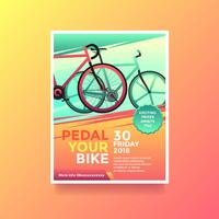 Pedal Your Bike Health Lifestyle Flyer Vector