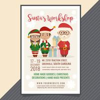 Vector Santa's Workshop Poster