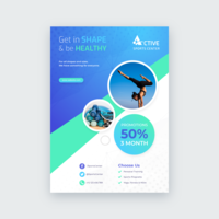 Sports Health Lifestyle Flyer Vector Template