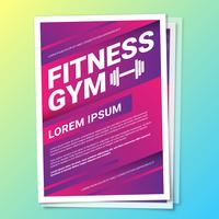 Fitnessstudio Gesundheit Lebensstil Flyer Vorlage