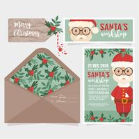 Vector Santa's Workshop Invitation