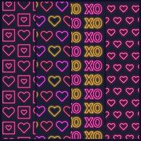 Valentine's Day Neon Patterns