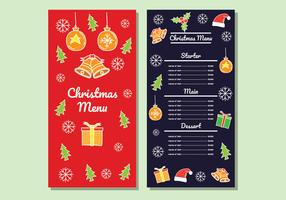 Kerstdiner Menu Vector