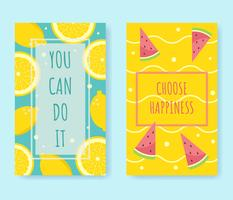 Incoraggiamento con Inspirational Quotes Vector