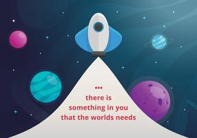 Cards of encouragement with positive text and outer space, planet, stars in creative styles