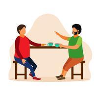 Encuentro de café con viejo amigo