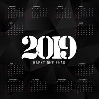 Laag poly kalenderontwerp