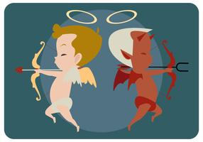 Cupid With His Evil Side Vector