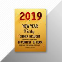 Mooie 2019 flyer viering partij sjabloonontwerp