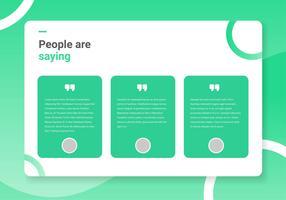 Testimonial Page Interface Design