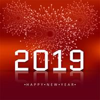 Fondo hermoso hermoso feliz año nuevo texto 2019