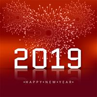 Beautiful Happy New Year 2019 text festival background