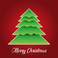 Christmas background with tree design