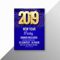 Beautiful 2019 flyer celebration party template design