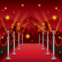 Hollywood Red Carpet Illustration