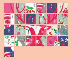 Advent Calendar Printable Vol 2 Vector