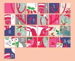 Advent Calendar Printable Vol 2 Vector