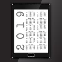 Calendar on generic electronic tablet