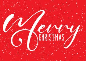 Christmas background with decorative text and snow effect