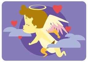 Singing Cupid Vector
