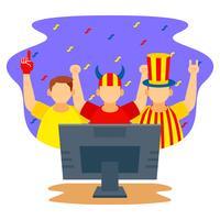 Football watch party celebration