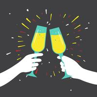 Illustration vectorielle de Champagne Toast