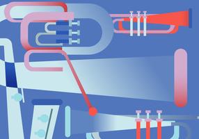 Ilustración de vector de cartel de música de jazz saxofón retro