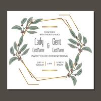 Geometric Wedding Invitation  vector
