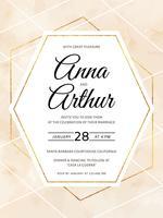 Vector Geometric Watercolor Wedding Invitation Template