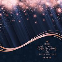 Christmas and New Year sparkle background
