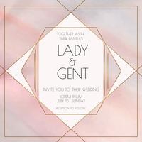 Geometrische Aquarell-Hochzeits-Einladung