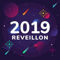 Réveillon Vector Background