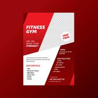 Fitness Gym Health Lifestyle Flyer Template