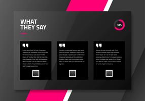 Dark Testimonial Page Interface Design Template