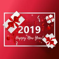 Ilustración de vector de tarjeta de felicitación de año nuevo